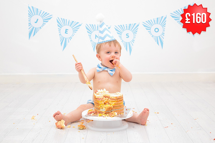 Birthday Cake Smash Photography Cheshire